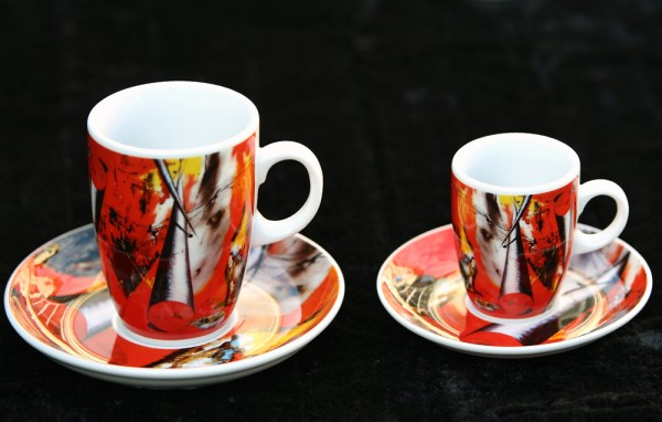 "Kaffee- oder Espressotasse ""Rotstich"""